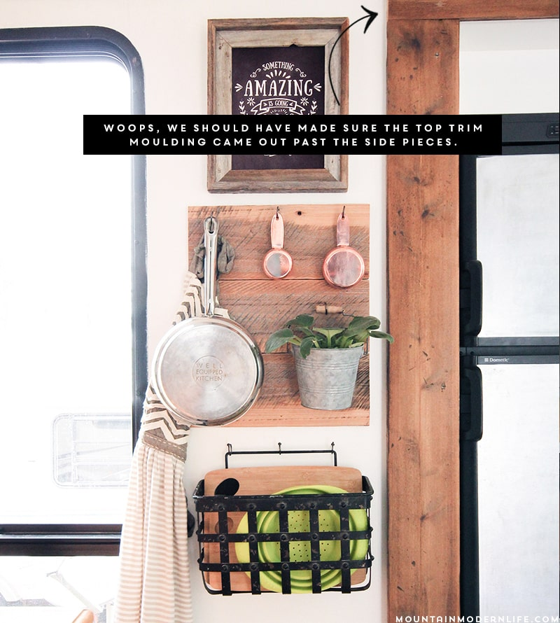 Tips for replacing RV slide-out moulding with Rustic Wood | MountainModernLife.com