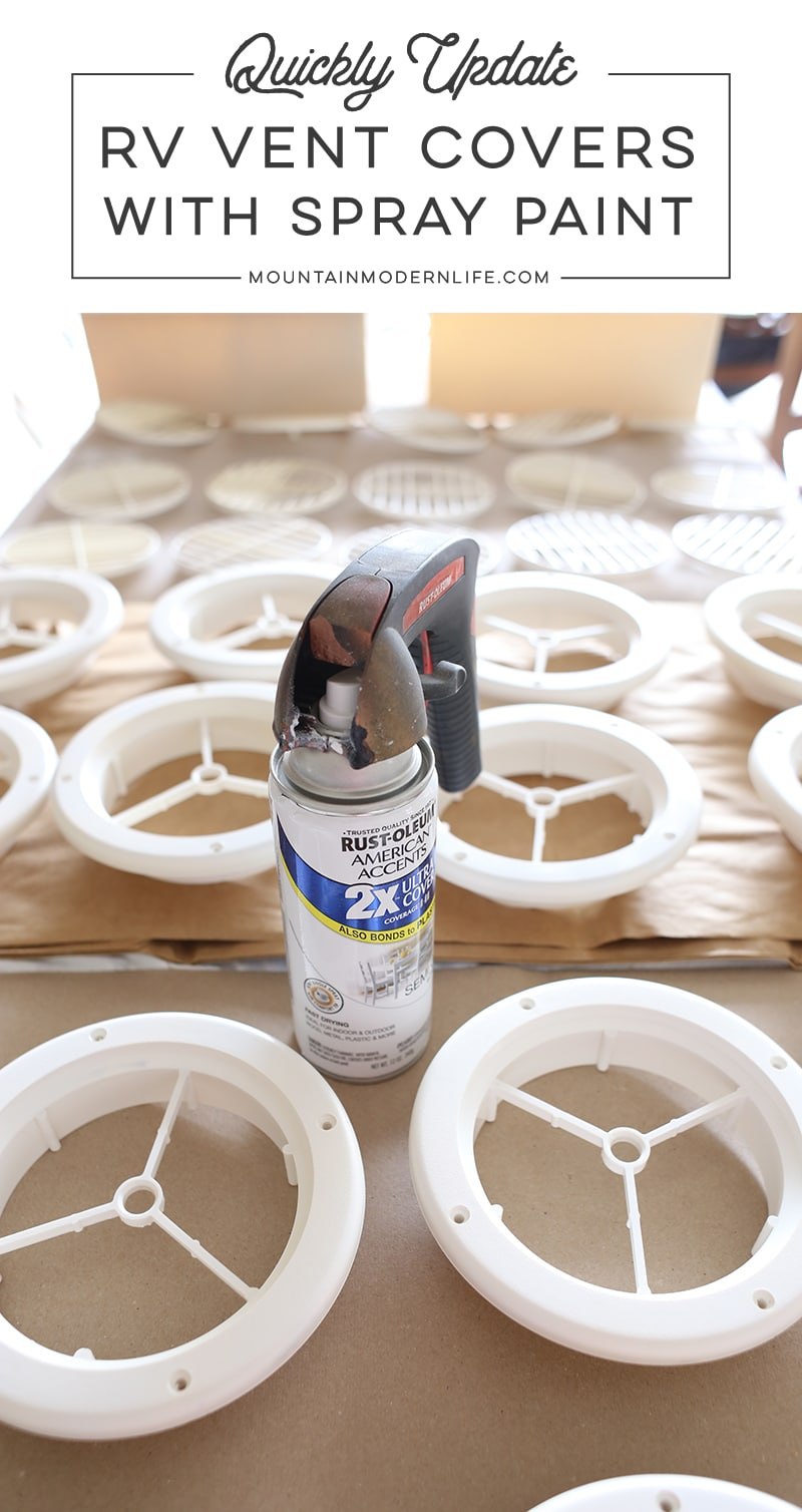 Update RV Vent Covers with Spray Paint | MountainModernLife com