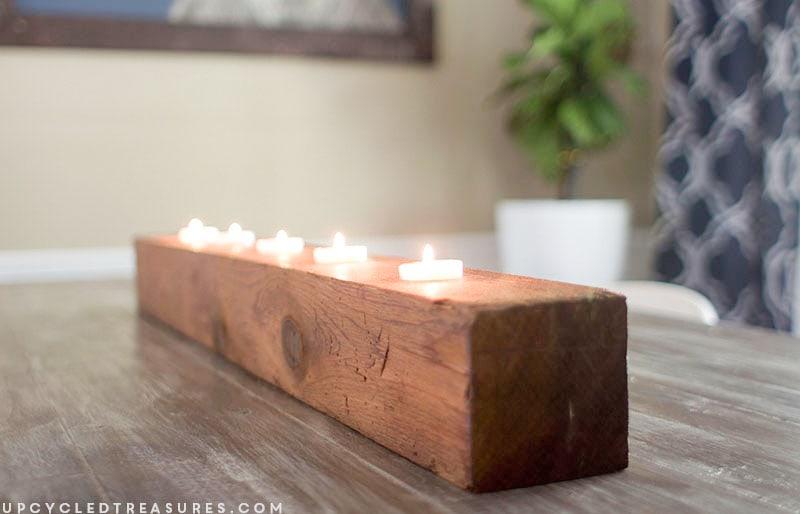 Rustic Tea Light Candle Holder | MountainModernLife.com