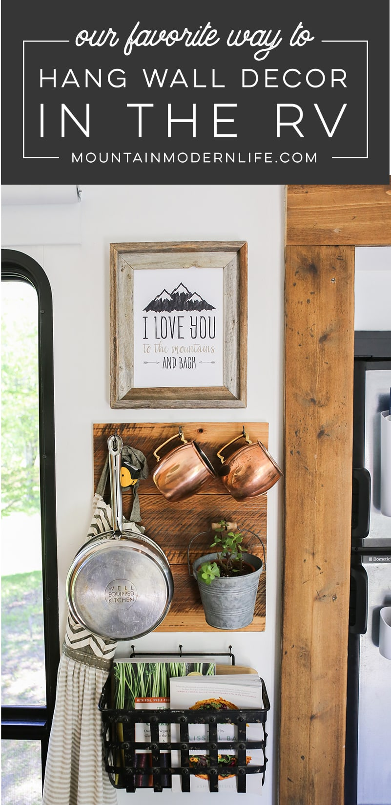 Our Favorite Way To Hang Wall Decor In A Rv
