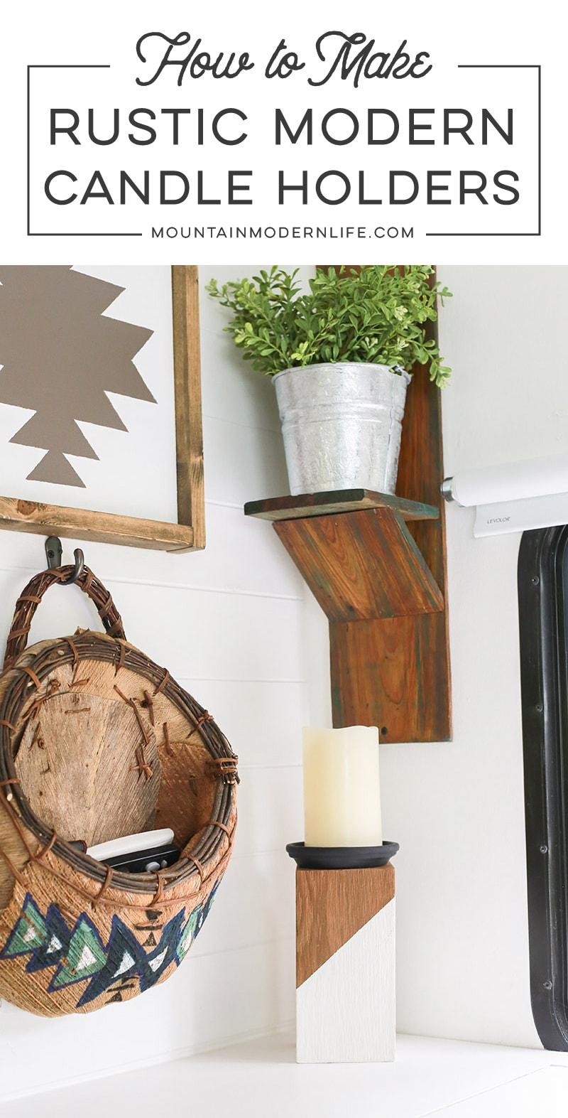 How to Make Rustic Modern Candle Holders | MountainModernLife.com