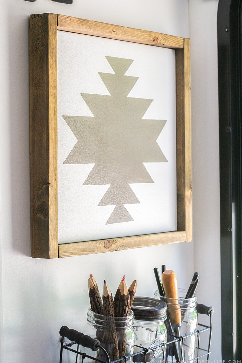 How to make navajo inspired art Simple wall art