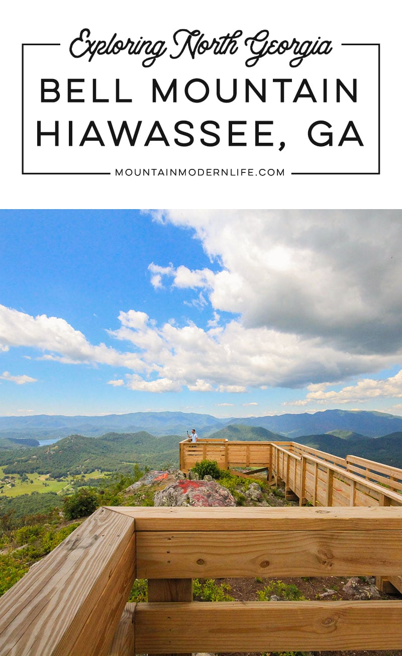 Are you in or around Hiawassee, GA? You should take a quick trip up to Bell Mountain, you can drive all the way up and see amazing views of Lake Chatuge.