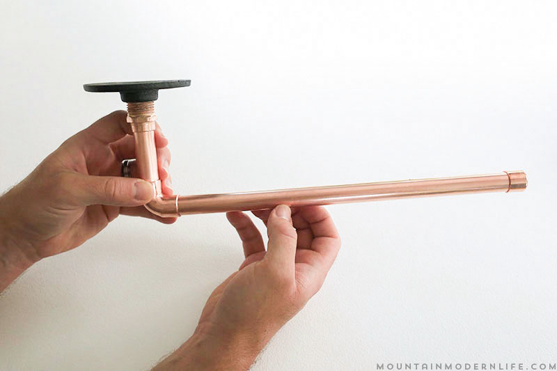 Add character to your kitchen with this Rustic Modern DIY Paper Towel Holder! It's easier than you think! MountainModernLife.com