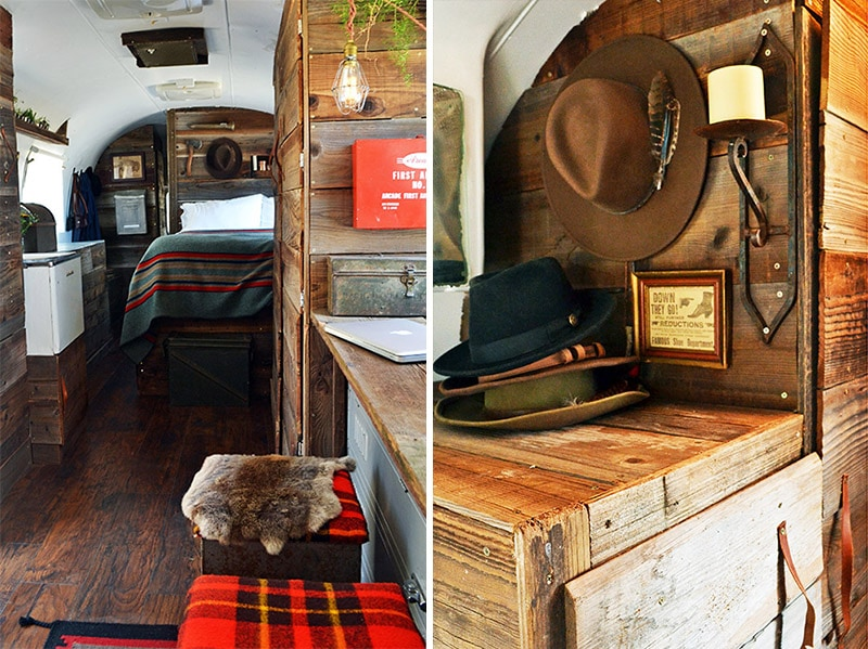 If white paint, various wood tones, and lots of texture is your thing, you'll love these rustic camper remodels! Photo Source: The Local Branch