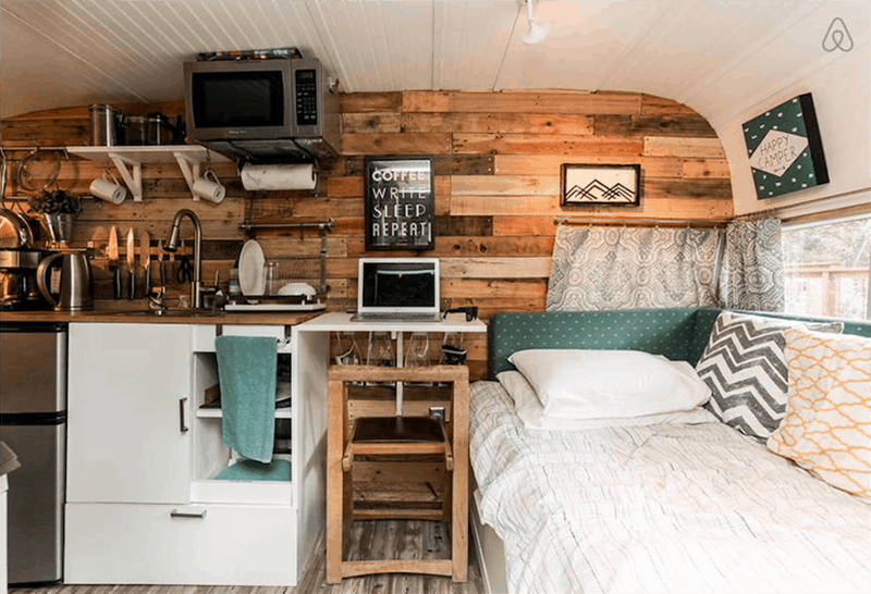 If white paint, various wood tones, and lots of texture is your thing, you'll love these rustic camper remodels!