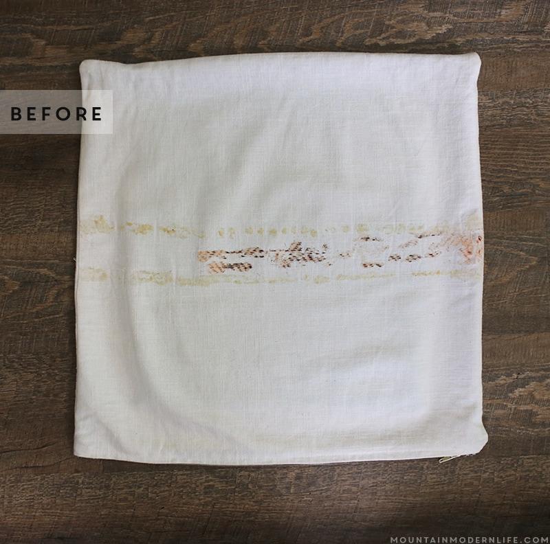 leftover-glue-reside-on-pillow-cover-mountainmodernlife.com
