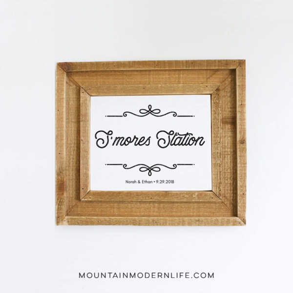 S'mores Station Printable