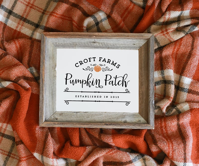 Custom Pumpkin Patch Printable