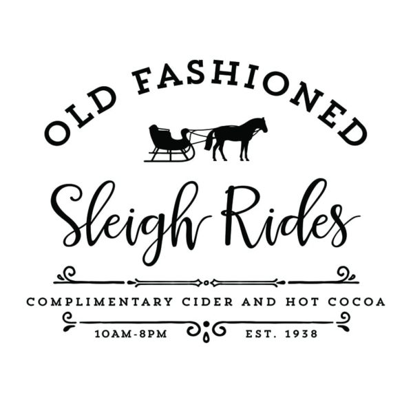 Old Fashioned Sleigh Rides Printables! | MountainModernLife.com