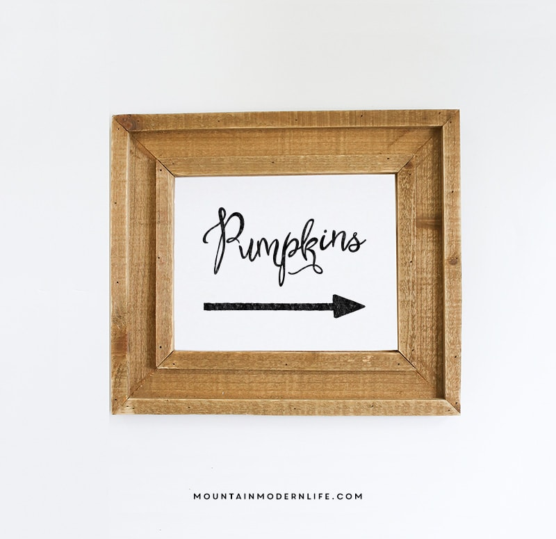 Printable pumpkins sign - Fall decor trends five tips to spruce up your homes ...