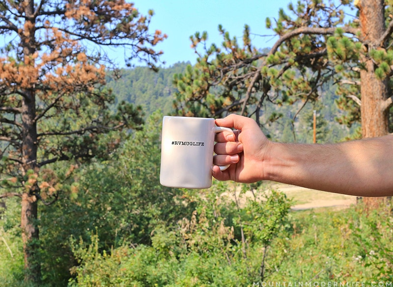 #RVMugLife - View from Campground in Estes Park