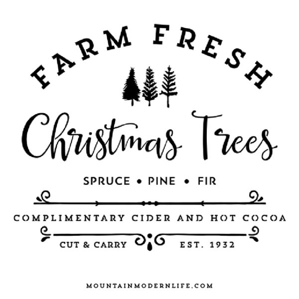 Farm Fresh Christmas Trees SVG File | MountainModernLife.com