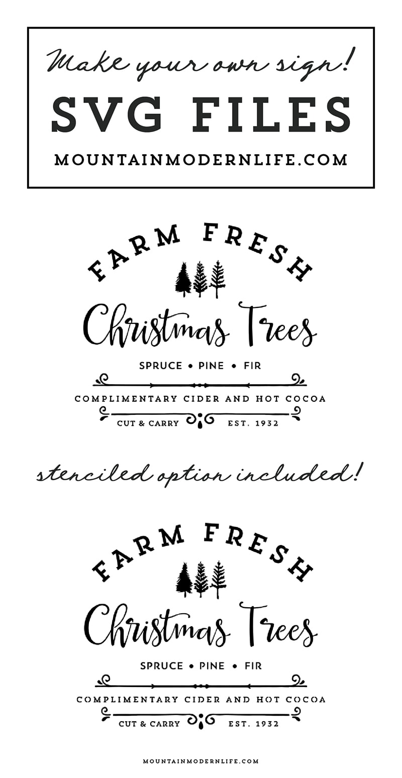 Farm Fresh Christmas Trees SVG File