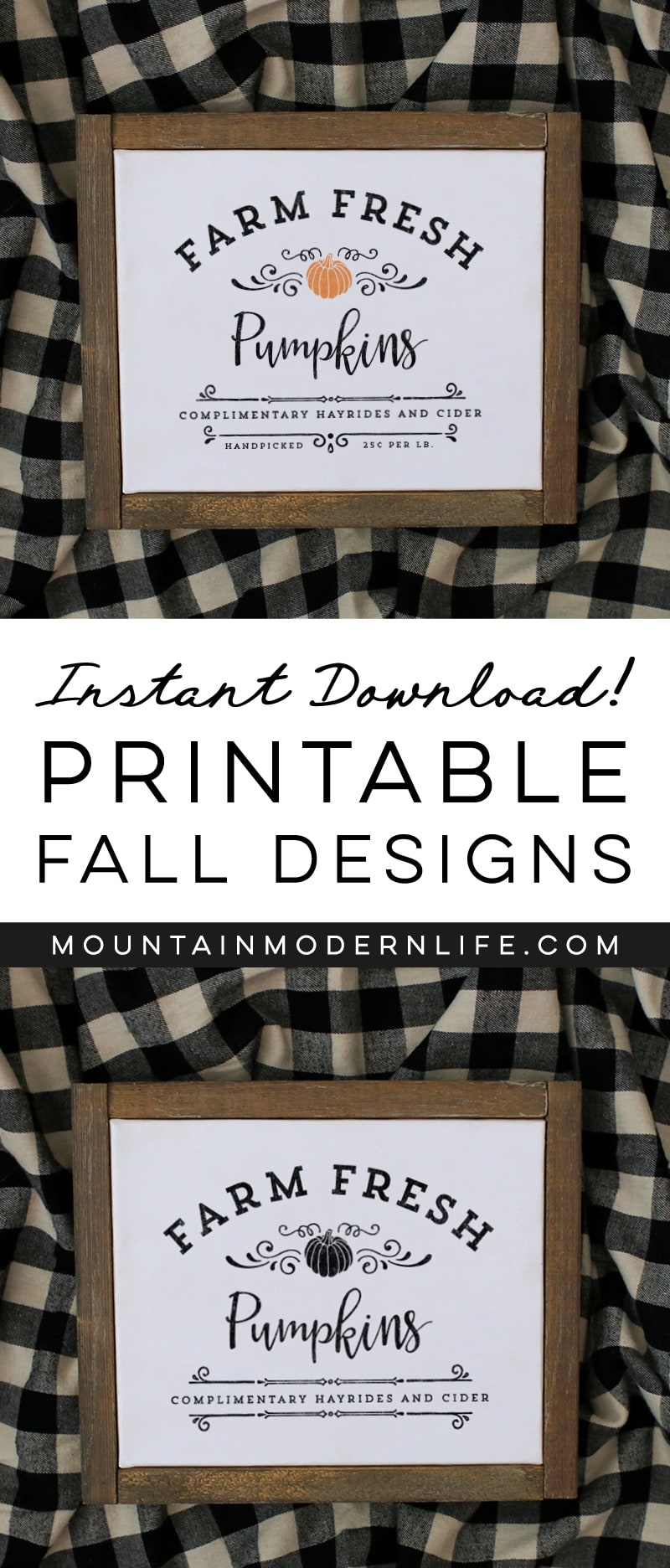 See how easy it is to make this Farm Fresh Pumpkins Sign from a Printable using this image transfer method! Perfect for decorating your own home or to give away as gifts. MountainModernLife.com