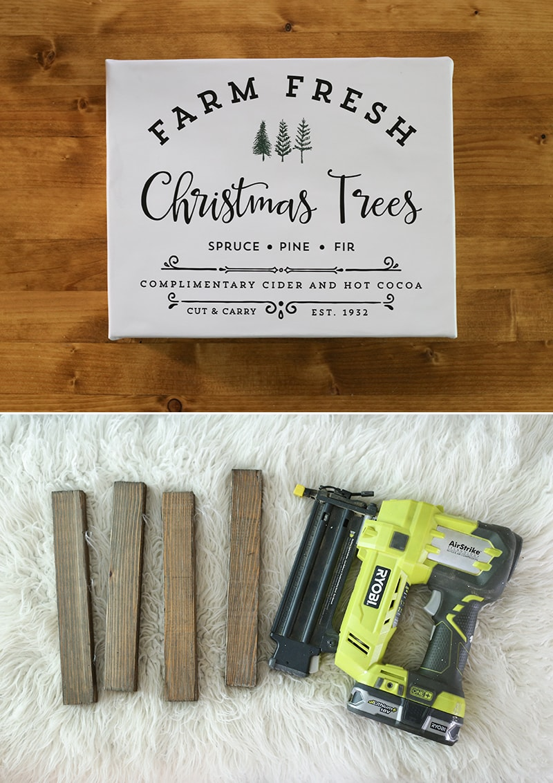 See how easy it is to make Holiday signs from printables with this image transfer method! Perfect for decorating your own home or to give away as gifts. MountainModernLife.com