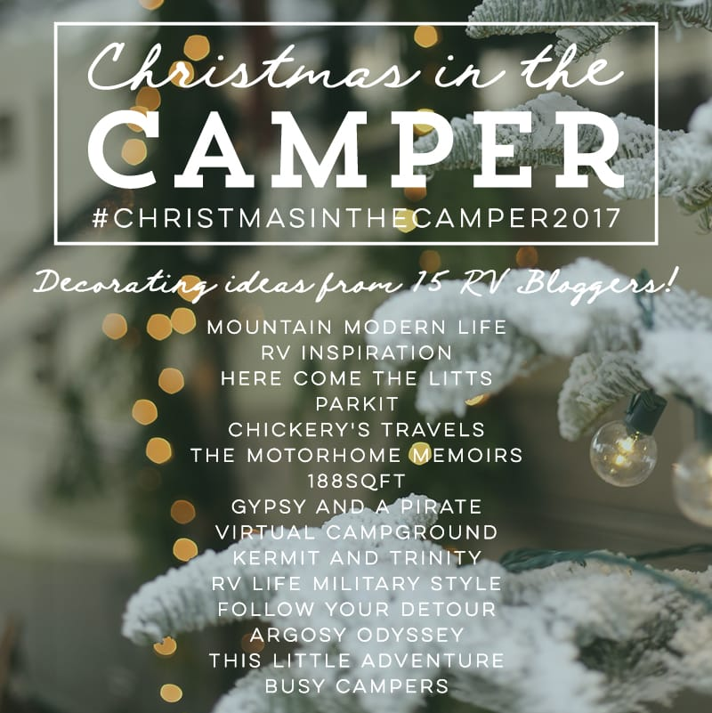 Christmas in the Camper! See how 15 RV bloggers decorate their tiny homes for the holidays! MountainModernLife.com