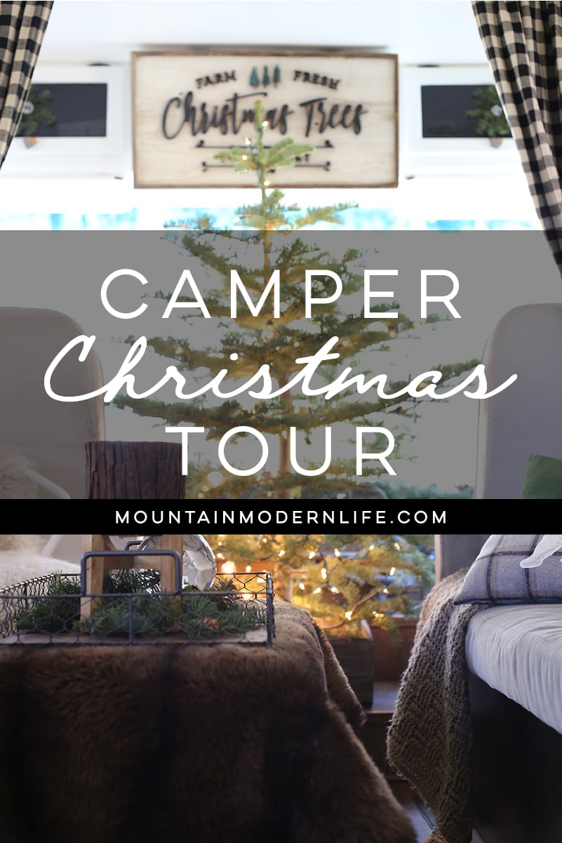 Cabin-Inspired Christmas in the Camper