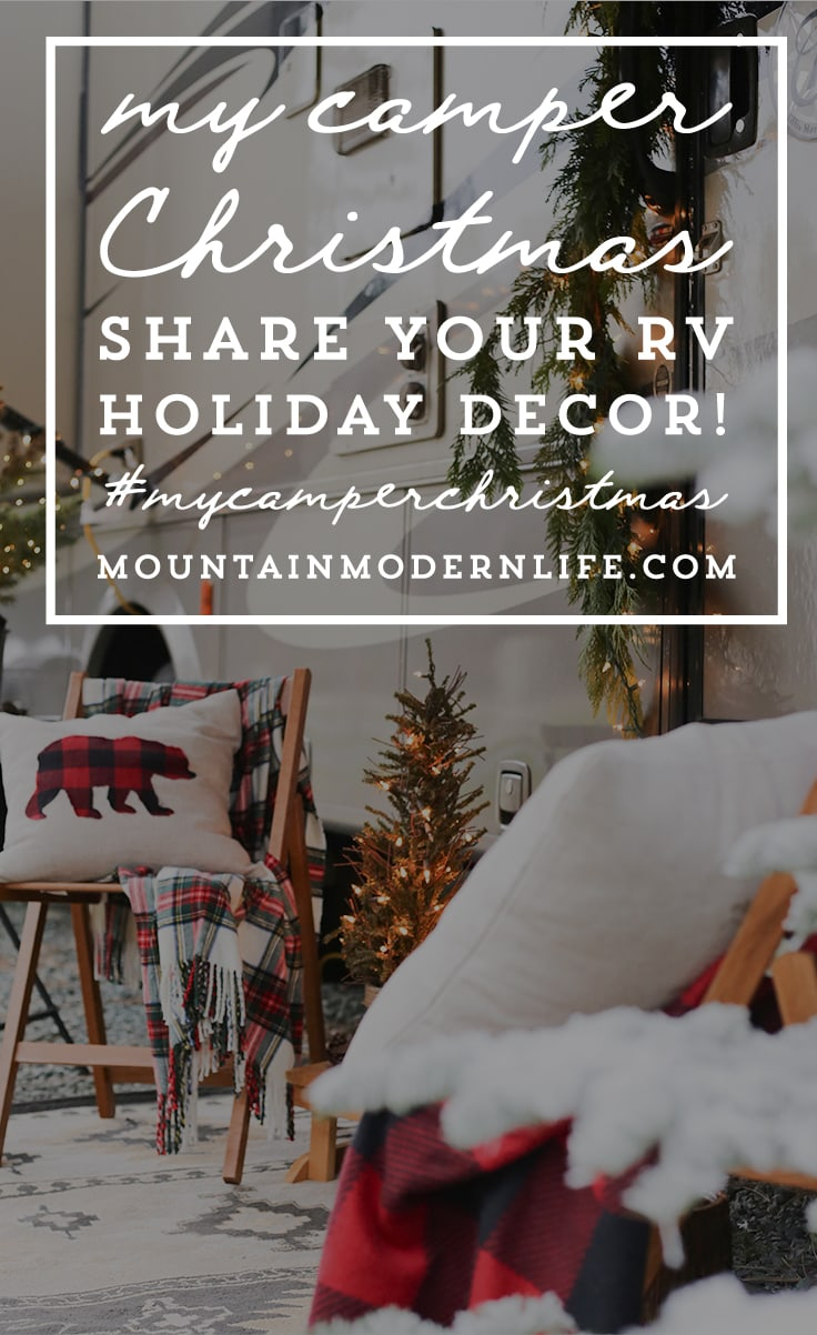 My Camper Christmas - Share your RV holiday decorations! MountainModernLife.com