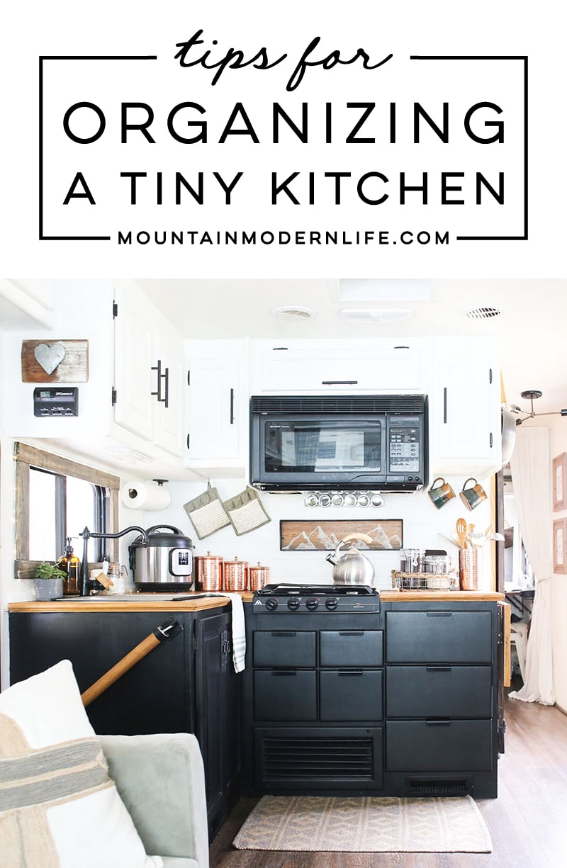 Tips for Organizing a Tiny (RV) Kitchen