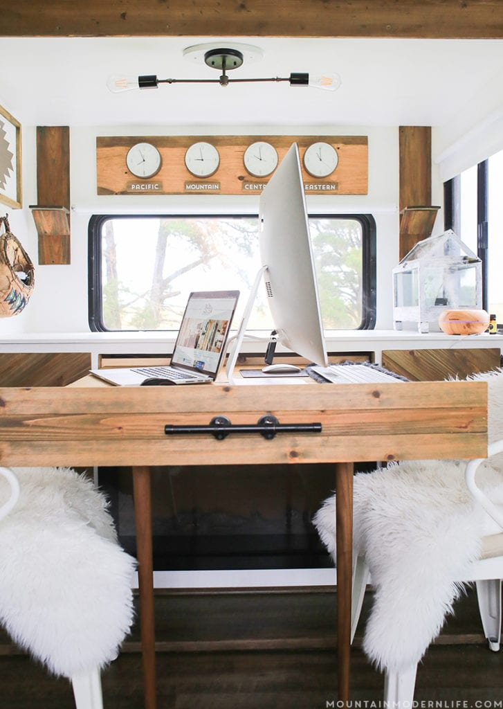 Slide-out Desk in RV