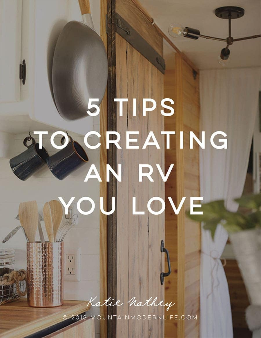 FREE eBook: 5 Tips to Create an RV You Love