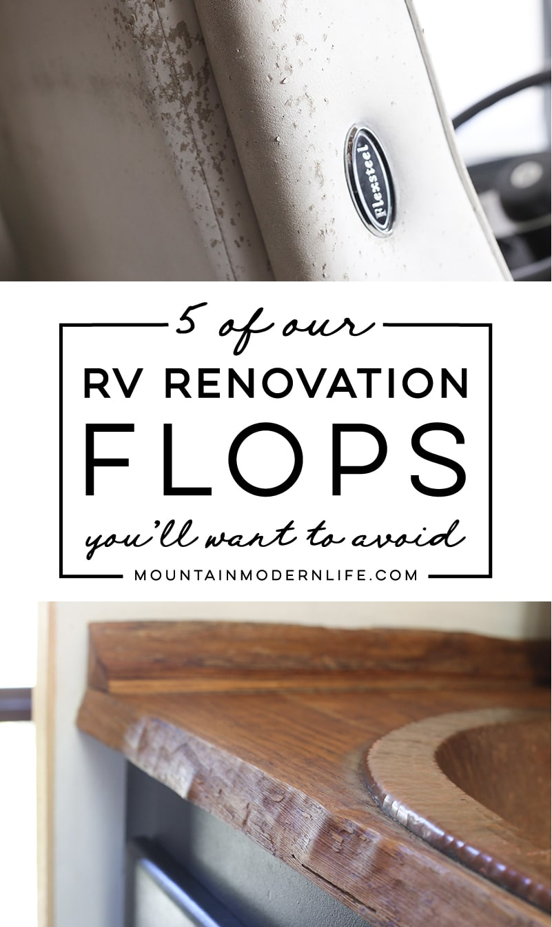 RV Renovation Flops You\'ll Want to Avoid