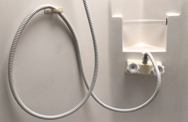 Are you looking for an easy update to do in your RV? Consider upgrading your RV shower faucet, it's an easy project that'll make a world of a difference! Mountainmodernlife.com