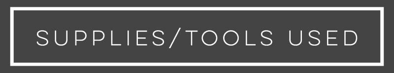 supplies/tools