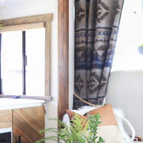 Using Blankets for RV Curtains | Mountain Modern Life