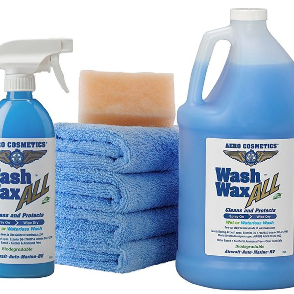Most campgrounds and RV parks have rules against washing your rig. So how do you keep the exterior of your rig clean? This waterless RV washing kit is the way to go! | MountainModernLife.com