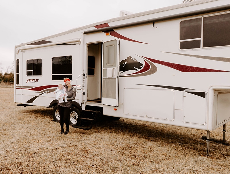 Tour this modern farmhouse-inspired fifth wheel from The Arrow Anglers! MountainModernLife.com
