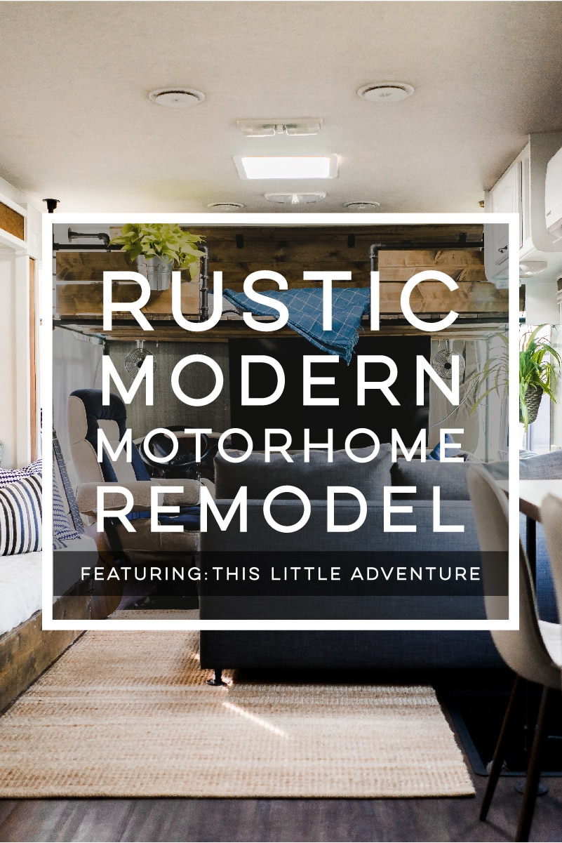 Camper Design Vibes: Modern Meets Rustic in this Creative RV Renovation from This Little Adventure! Featured on MountainModernLife.com