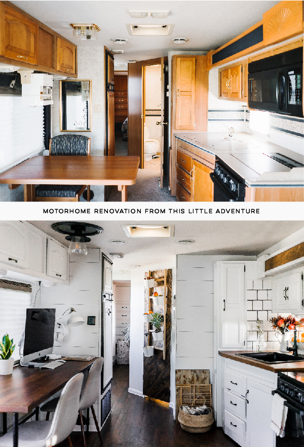 motorhome makeover before and after