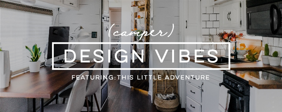 Modern Meets Rustic in this Creative RV Renovation from This Little Adventure! Featured on Camper Design Vibes | MountainModernLife.com