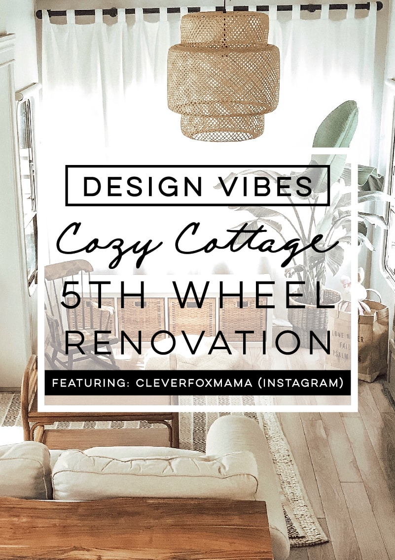 Tour this tiny home that feels more like a cozy cottage than a camper! Photos from CleverFoxMama (Instagram)