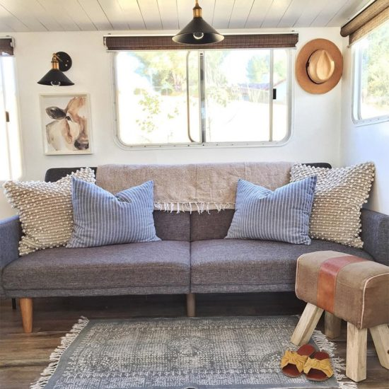 Tour this California Country Travel Trailer Renovation from Kalifornia Kountry of Instagram! Featured on MountainModernLife.com