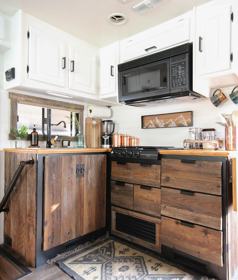 Used Kitchen Cabinets: DIY Reclaimed Wood Kitchen Cabinets