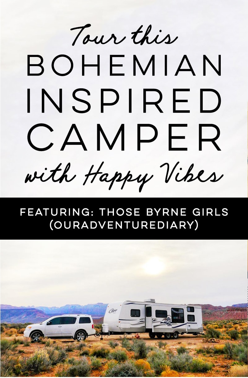 (Camper) Design Vibes: Tour this beautiful, bohemian-inspired camper that belongs to a family of 6! / Photos from ThoseByrneGirls / Featured on MountainModernLife.com