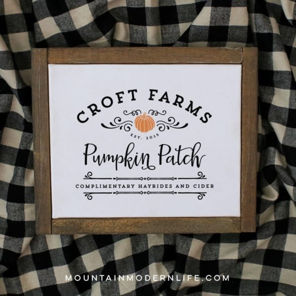 Customized Pumpkin Patch Printable | MountainModernLife.com