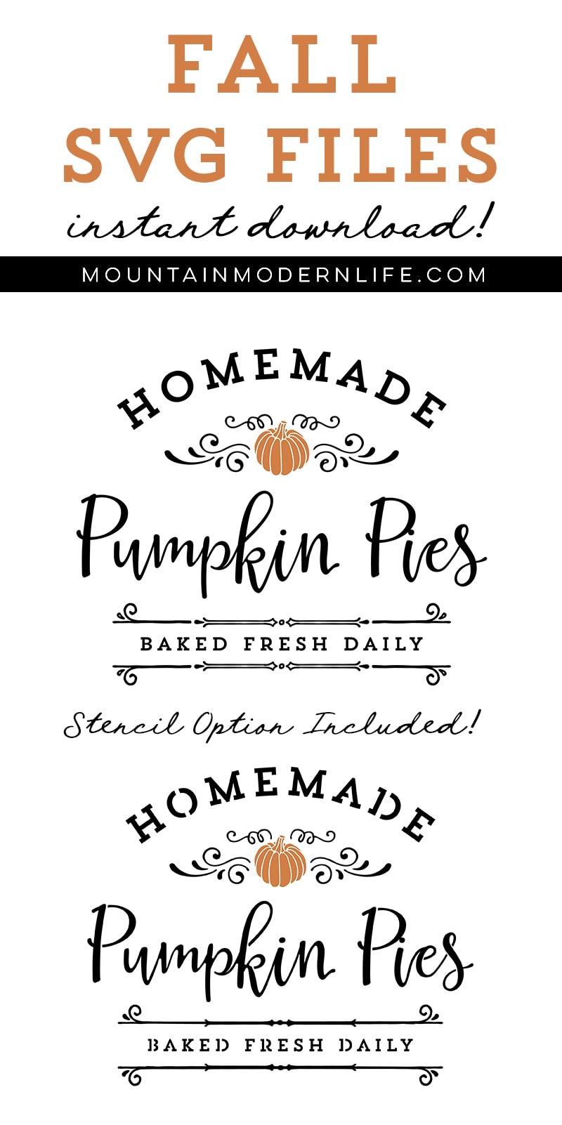 SVG Files: Farm Fresh Pumpkin Pies   MountainModernLife.com