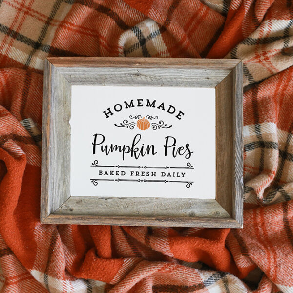 Homemade Pumpkin Pies Printable