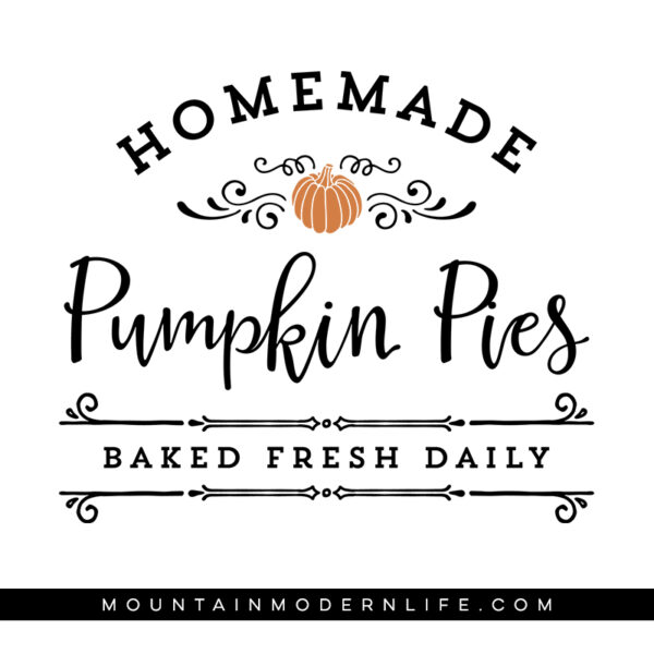 Homemade Pumpkin Pies SVG File