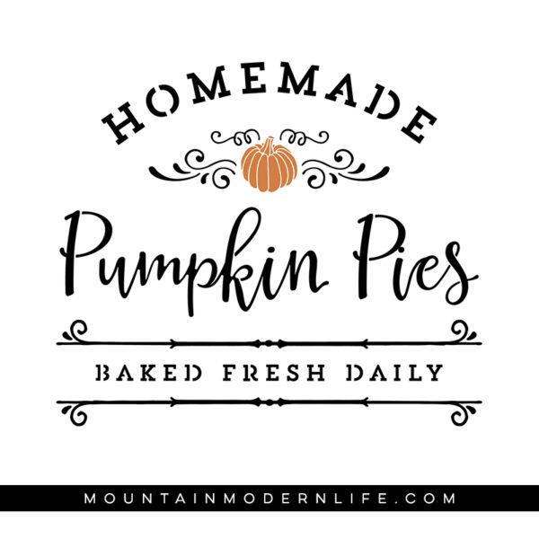 Homemade Pumpkin Pies SVG File