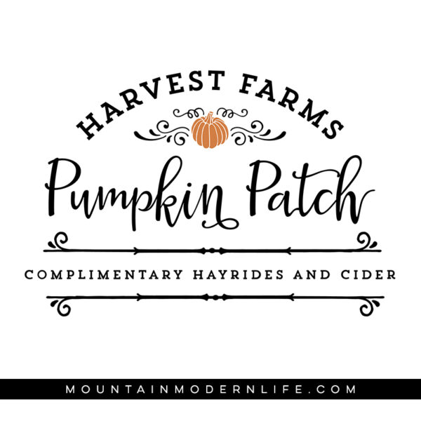 Harvest Farms Pumpkin Patch SVG file