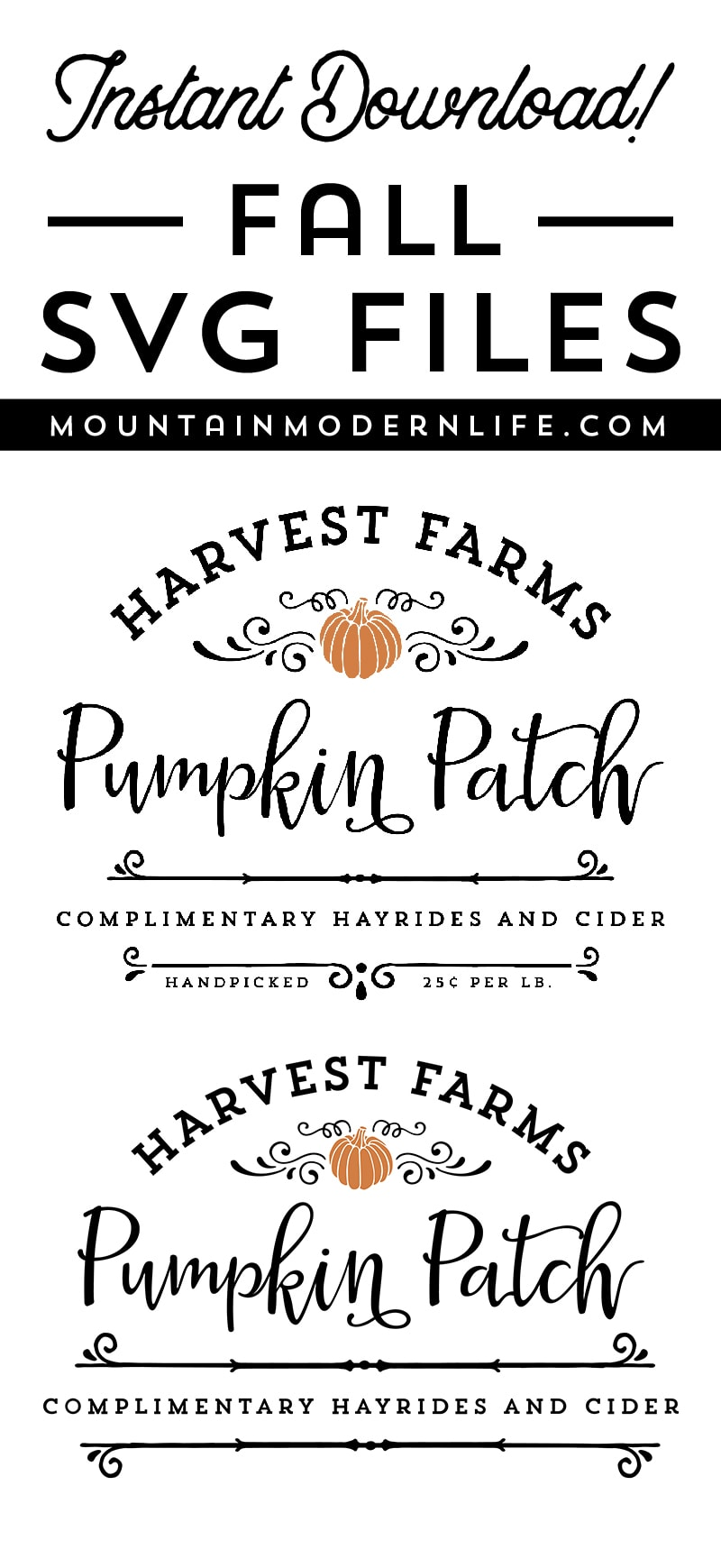 Harvest Farms Pumpkin Patch SVG file