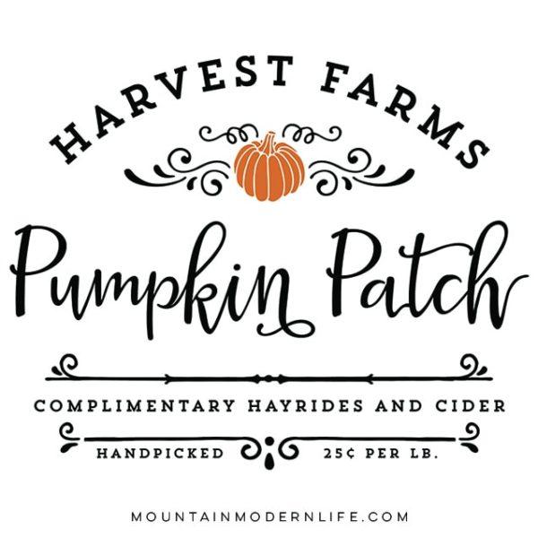 Harvest Farms Pumpkin Patch Printables | MountainModernLife.com