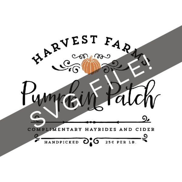 Make your own rustic sign with this Harvest Farms Pumpkin Patch SVG cut file! MountainModernLife.com