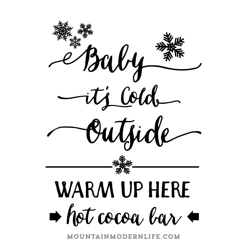 Baby It S Cold Outside Svg Mountainmodernlife Com