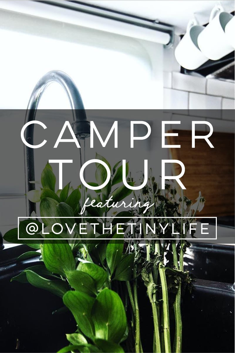 Tour this renovated travel trailer perfect for a family of 3